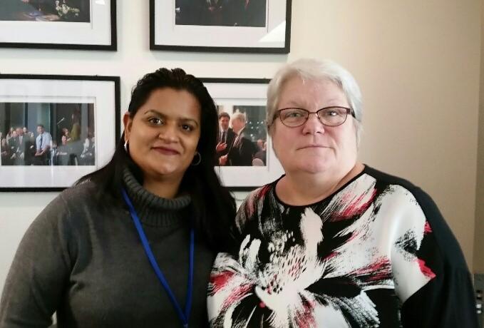Sharon DeSousa and Robyn Benson