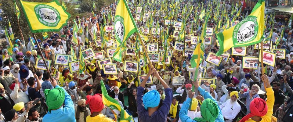 Manifestation d'agriculteurs indiens