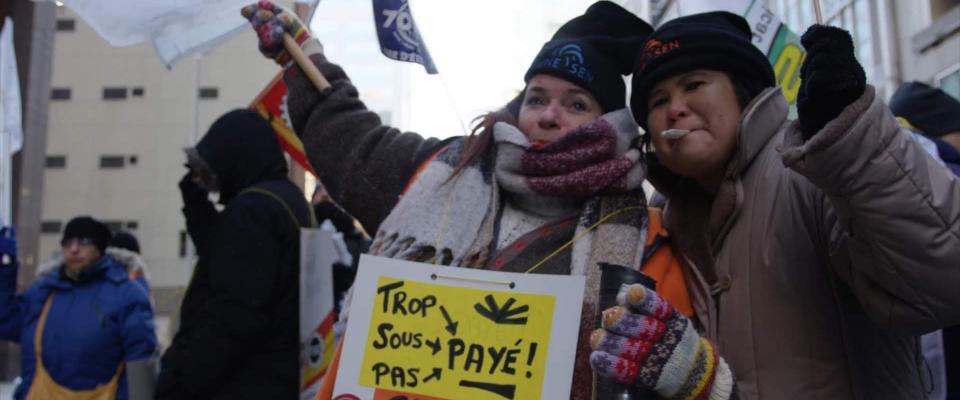 Manifestation de membres de l'AFPC