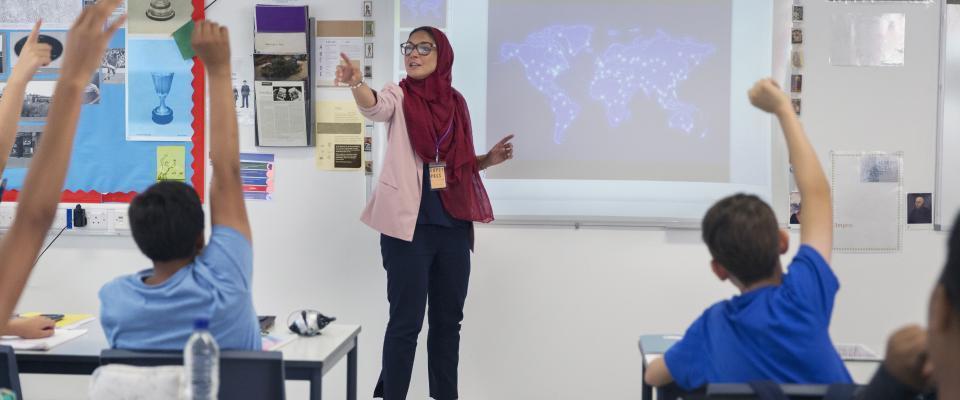Teacher wearing hijab