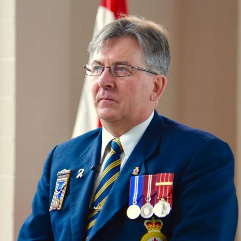 Rob Cutbush, 50 ans, 25 ans de service dans la Marine Royale canadienne.