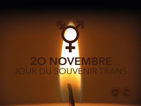 Le 20 novembre marque la Journée du souvenir trans