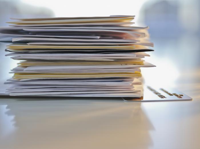 Pile de courrier