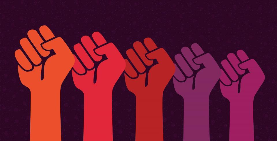 solidarity fists
