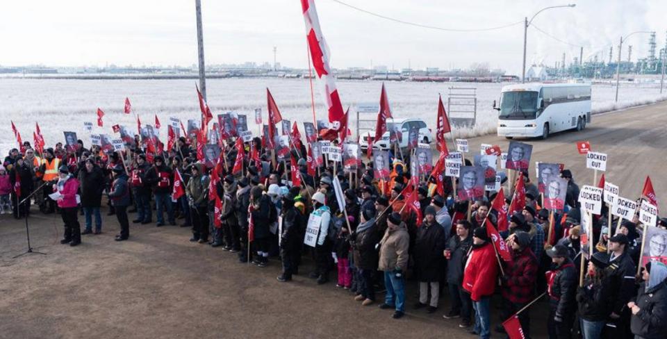 Grève à Regina