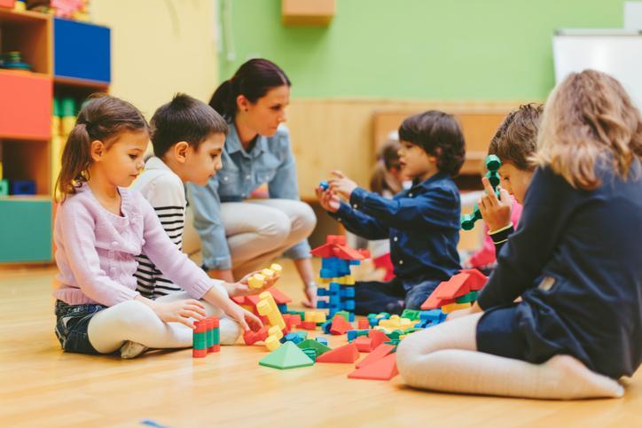 Enfants en garderie