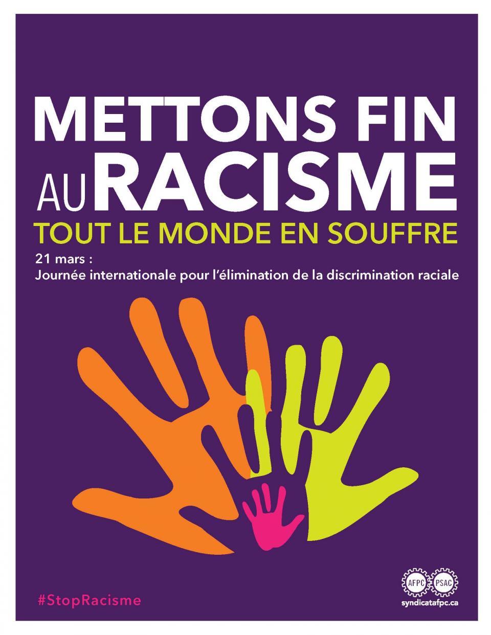 L'affiche de Mettons fin au racisme