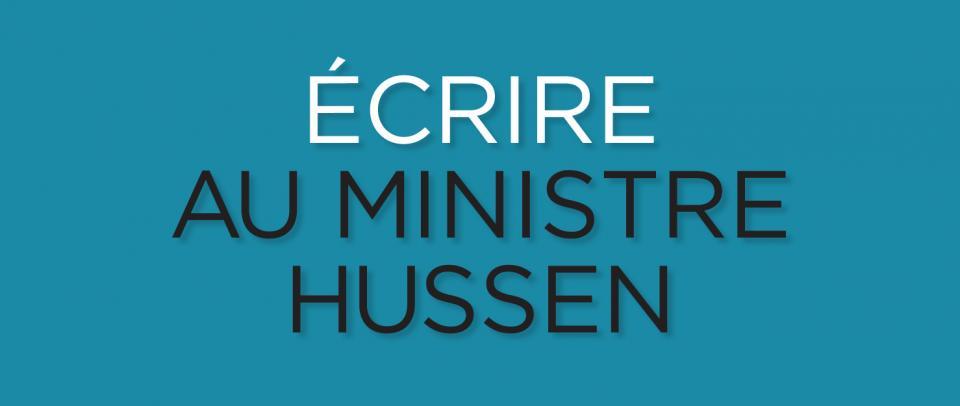 Écrire au ministre Hussen