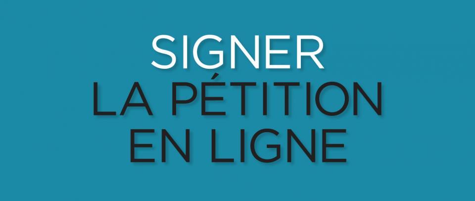 Signez la pétion