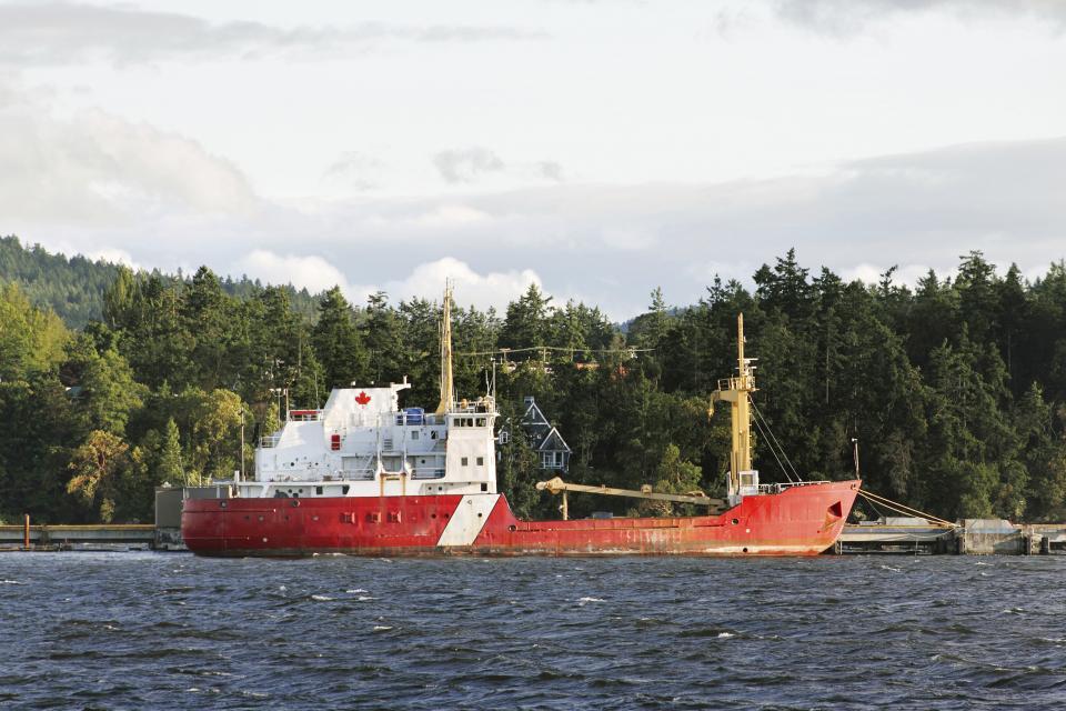 Un navire de la Garde côtière canadienne