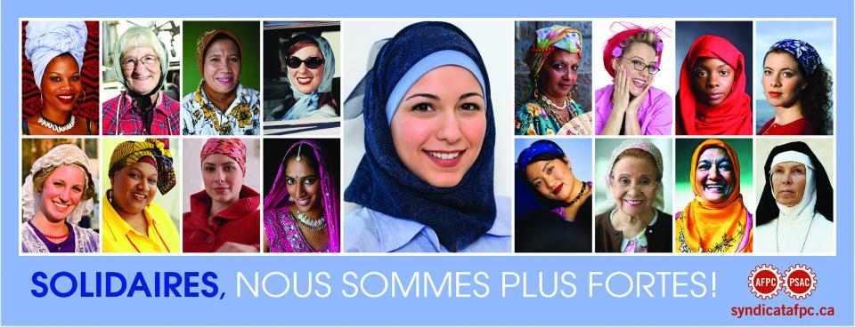 Photos de femmes coiffées de différents foulards