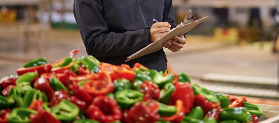 inspection des légumes