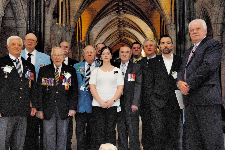 Délégation de vétérans à la colline parlementaire en 2013